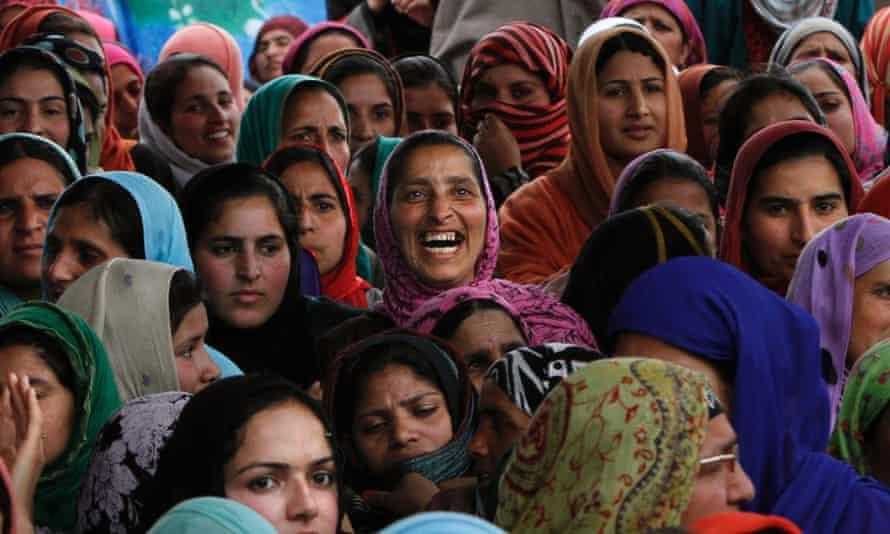 Kashmiri women attend election rally