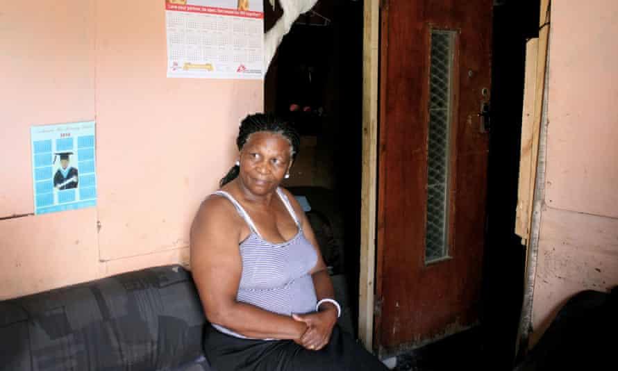 Nomfusi Panyaza in her home.