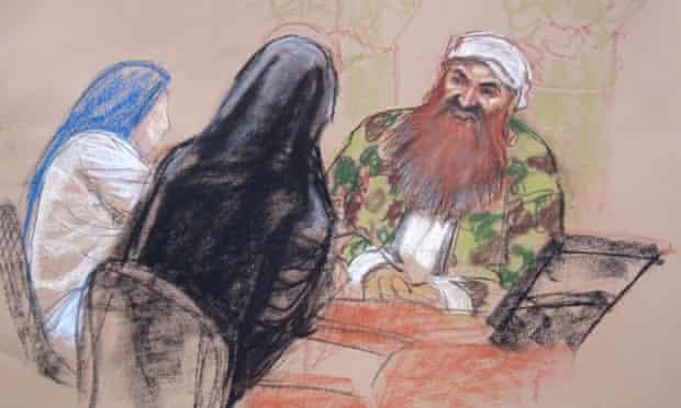 Guantanamo court sketch