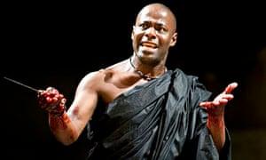 Paterson Joseph as Marcus Brutus in the RSC's Julius Caesar in 2012