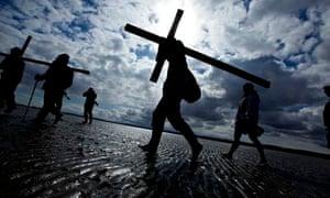 pilgims easter cross