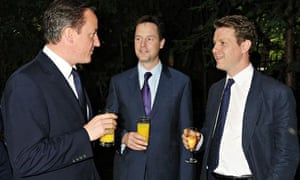 Fraser Nelson, David Cameron and Nick Clegg