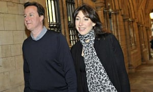 David Cameron and his wife, Samantha, arrive for a church service in west London in 2010