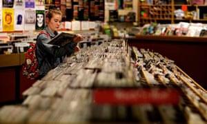 A customer browsing in Jumbo Records