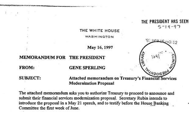 Treasury memo