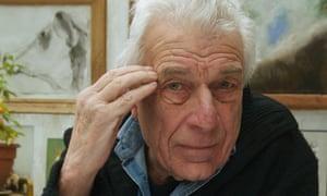 English writer John Berger at home near Paris.