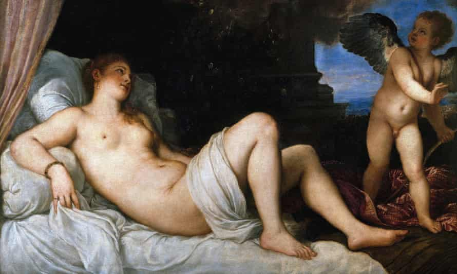 Titian and other European classicists rarely went for a lot of hair down there in their female nudes.