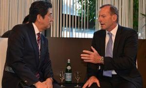 Tony Abbott and Shinzo Abe