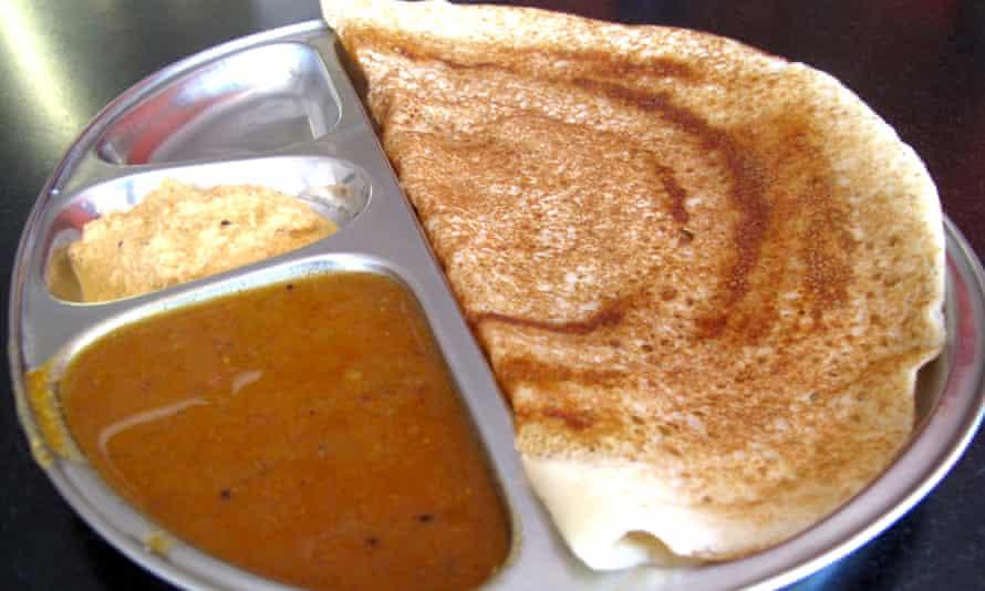 Dosa from Indian vegetarian cafe Lakshmi Vilas.