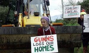 Anti logging protest 2003 Tasmania