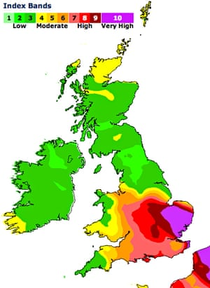 Daily air quality index for 2 April 2014