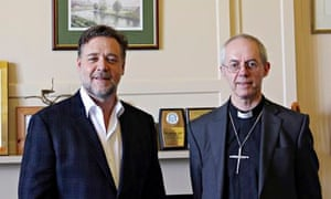 Russell Crowe Archbishop of Canterbury Justin Welby