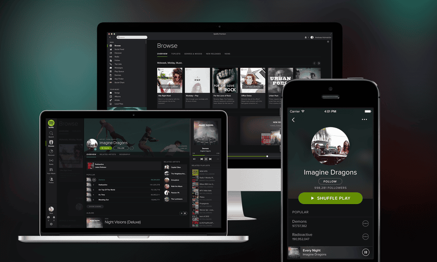 Spotify is rolling out a new dark look for its mobile, desktop and web apps.