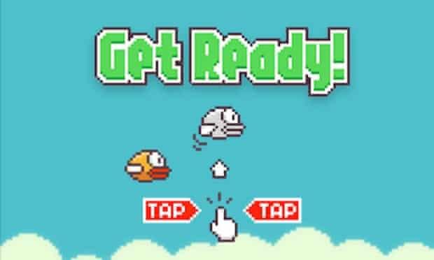 Flappy Bird: New Season looks just like the original game.