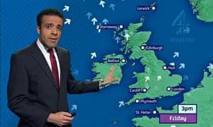 Liam Dutton, Channel 4 News weather presenter