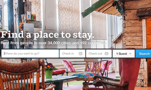 Airbnb's homepage.