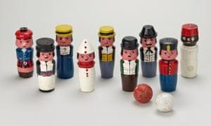 A set of Knockemdown Ninepins belonging to Princess Elizabeth