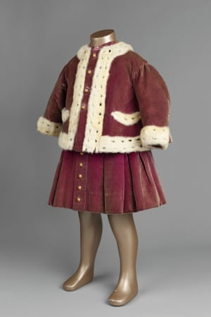 Velvet 'walking suit' belonging to the future King George V,  c.1867-8