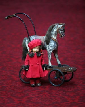 A doll and a toy horse belonging to Queen Elizabeth II