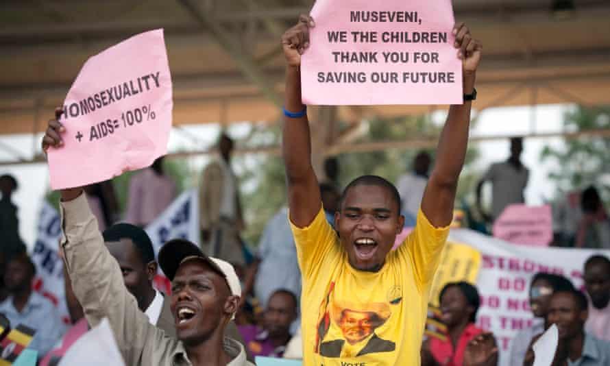 Uganda anti-gay rally