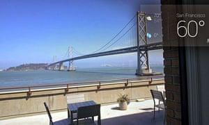 bay bridge from google glass hq