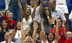 Wags cheer on the England team during the World Cup 2006