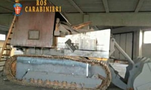 Home made tank seized from Veneto separatists