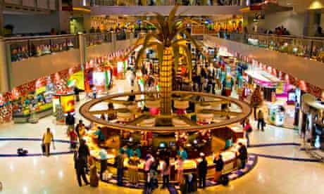 Dubai International: all glamour and plastic palm trees.