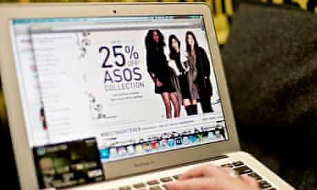 Asos on laptop