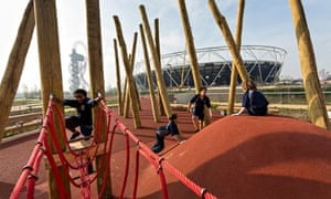 Children play at the Queen Elizabeth Olympic Park