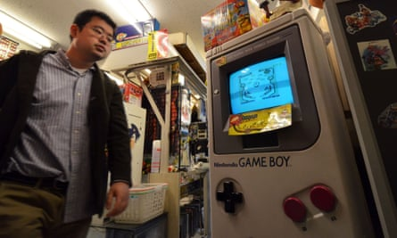 A large mock-up of the Game Boy at a videogame shop in Tokyo. AFP PHOTO / Yoshikazu TSUNOYOSHIKAZU TSUNO/AFP/Getty Images