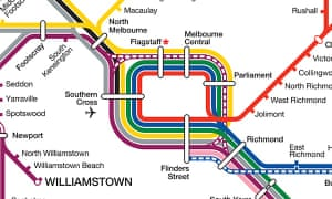 Map detail Victoria rail network
