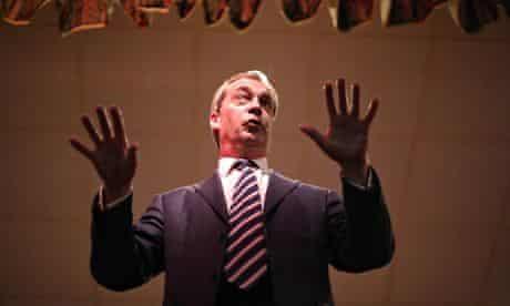 Ukip leader Nigel Farage in South Shields