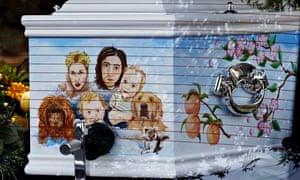 Peaches Geldofs Decorated Coffin