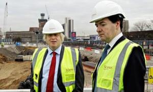 Osborne and his arch-rival Boris Johnson in London in 2011.