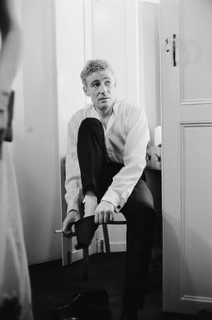 Peter O'Toole backstage at the Old Vic for Hamlet in 1963