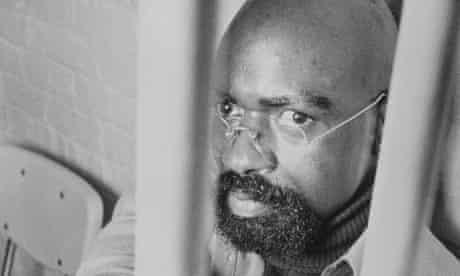 Rubin 'Hurricane' Carter behind bars. He was finally released in 1985.
