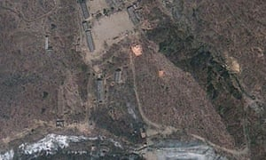 April 2012 satellite photograph showing North Korea's Punggye-ri nuclear test site