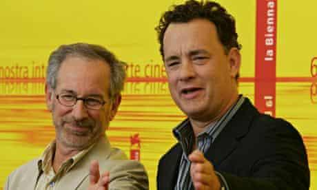Steven Spielberg and Tom Hanks in 2004