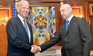 Joe Biden gives Ukraine's new pro-west leaders strong US backing