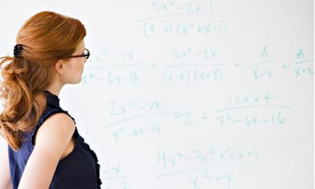 Woman doing math equations. Image shot 2010. Exact date unknown.