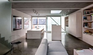 2nd floor living space at Slip House in Brixton, London.