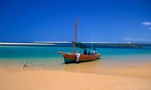 A Dhow at the Bazaruto Archipelago, Mozambique.