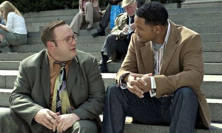 Kevin James (left) and Will Smith turn up the bromance in Hitch