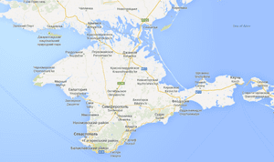 A map of Crimea on google.com.ua.