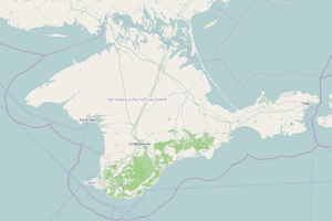 A map of Crimea on openstreetmap.org