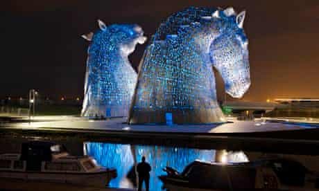 The Kelpies horse sculpture in Falkirk, Scotland