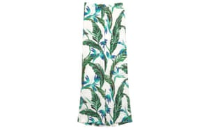 Spring 2014 buys: Spring 2014 buys - green leaf print on white palazzo pants by Zara