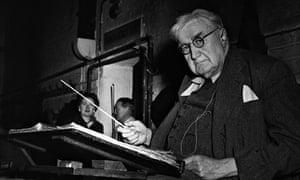 English composer Ralph Vaughan Williams in 1956