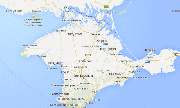 Google Maps Russia.